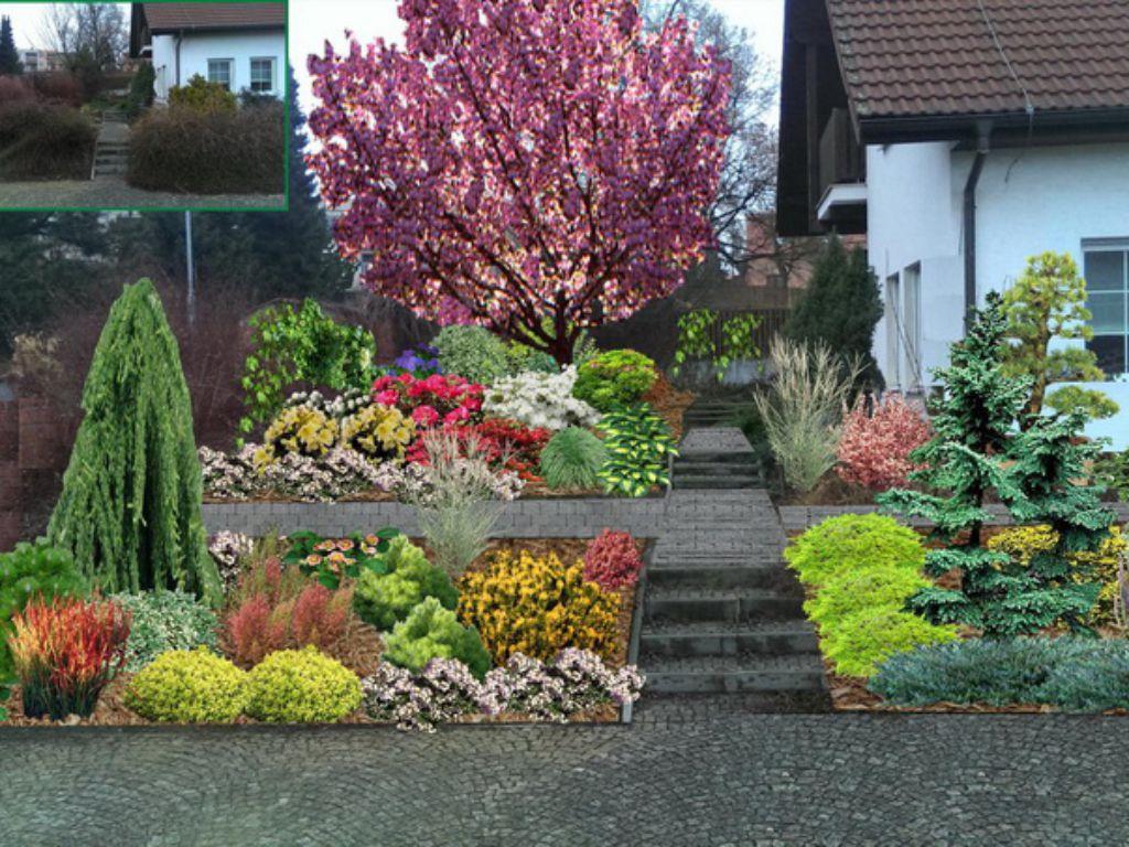 Návrh rekonstrukce zahrady ve 3D do fotografie