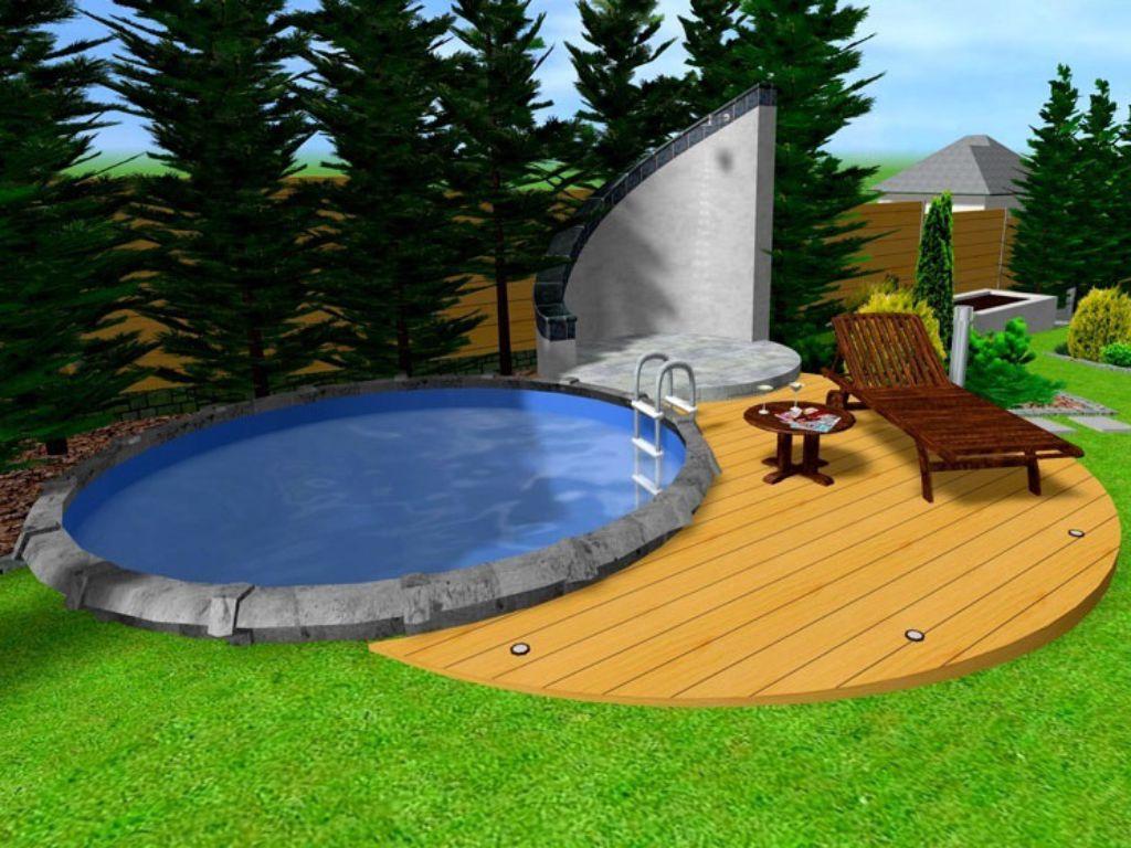 Okolí bazénu s terasou a sprchovacím koutem