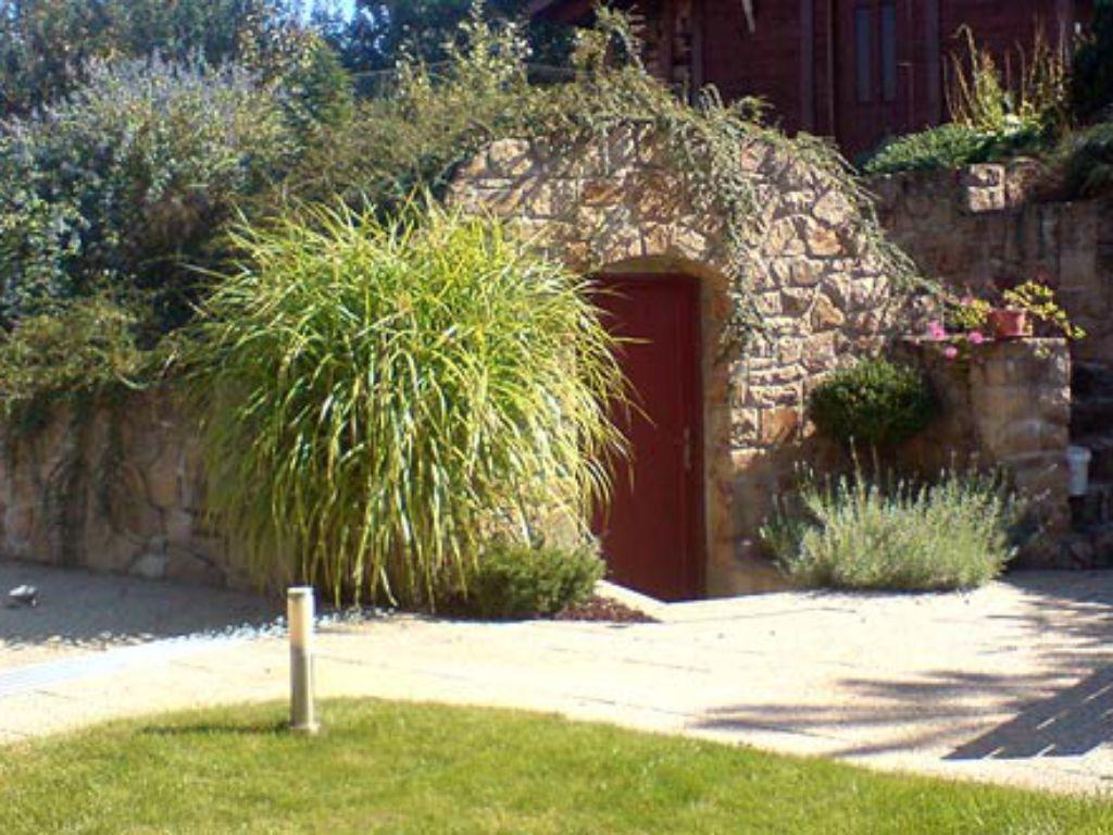 Vinný sklep na zahradě schován pod střešní výsadbou