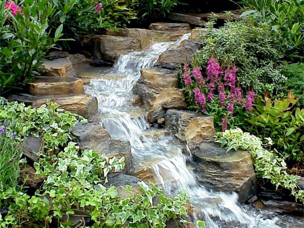 Voda v pohybu na zahradě