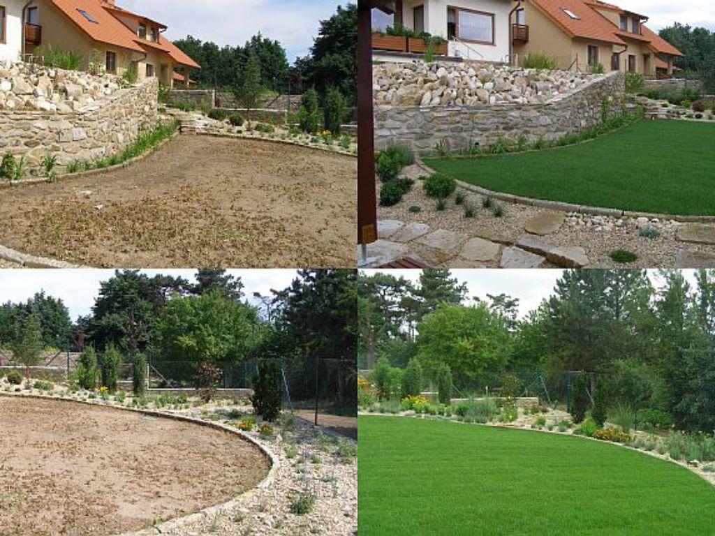 Změna zahrady po pokládce travního koberce