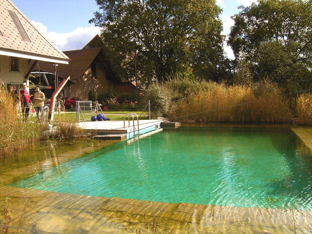 Rekonstrukce nádrže na vodu v přírodní jezírko.