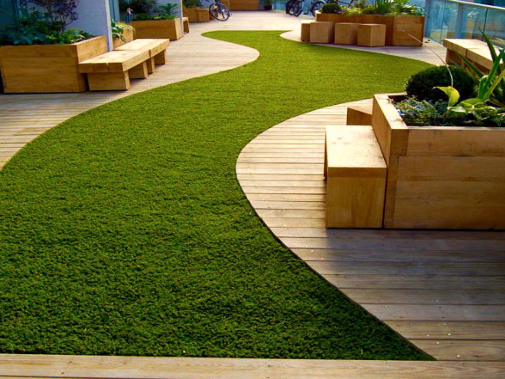 Městská zahrada na střeše pro letní odpočinek