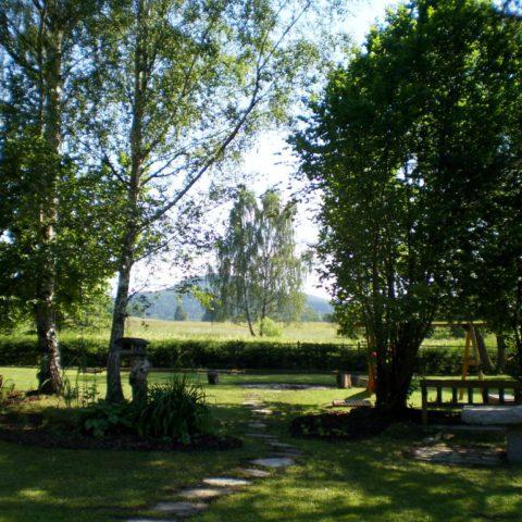 Zahrada v Národním parku České Švýcarsko