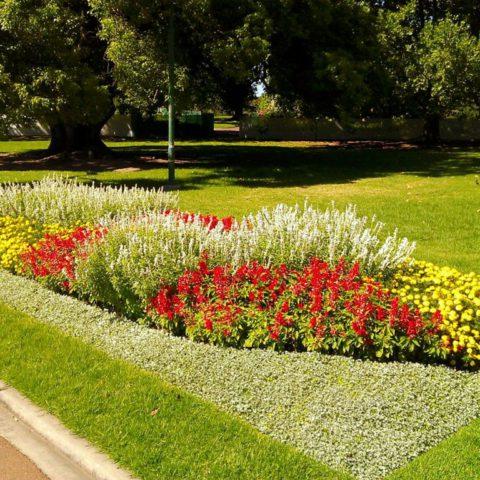 Parková úprava v lázních Teplice