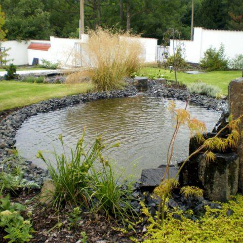 Teplice - zahrada s vodními prvky