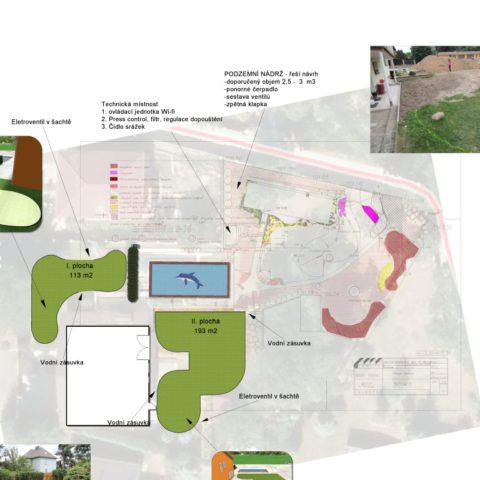 Zaměření zahrady a zpracování podkladu pro realizaci závlahy