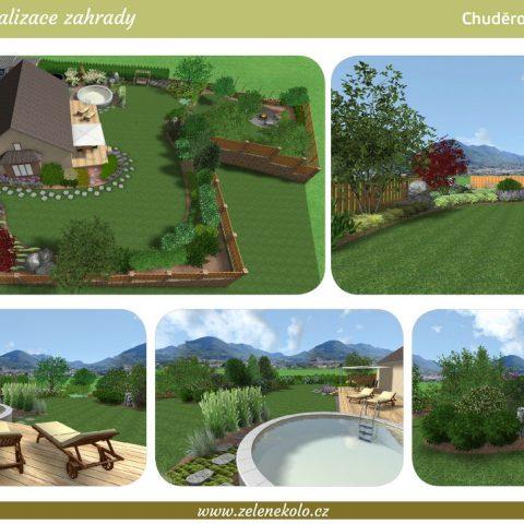 3D vizualizace zahrady