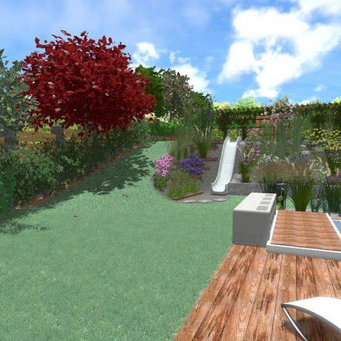 Řešení svahu v zahradě aneb Zahrada s klouzačkou