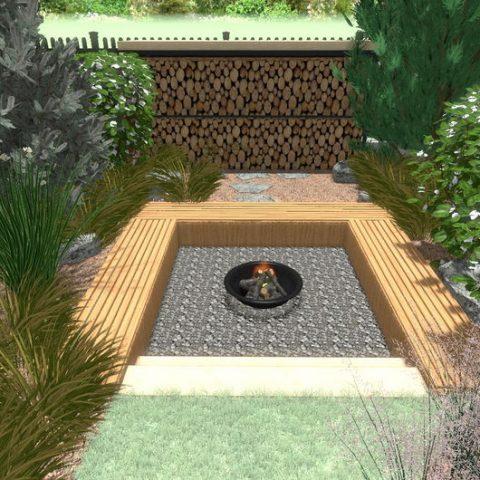 Ohniště v zahradě