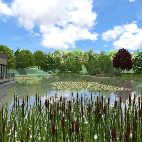 Zahrada s jezerem aneb Dům na vodě